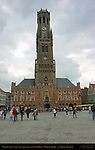 Belfort Bell Tower and Cloth Hall 1240, North Side, Market Square, Bruges, Brugge, Belgium