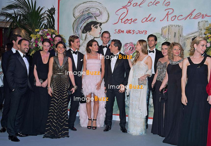 Monaco - /March 23, 2013-Charlotte Casiraghi and boyfriend French actor Gad Elmaleh attend the 'Bal de la Rose du Rocher' on the 150th anniversary of SBM at the Sporting Monte-Carlo