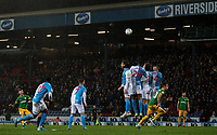Preston North End's Paul Gallagher shoots from a free kick<br /> <br /> Photographer Alex Dodd/CameraSport<br /> <br /> The EFL Sky Bet Championship - Blackburn Rovers v Preston North End - Saturday 11th January 2020 - Ewood Park - Blackburn<br /> <br /> World Copyright © 2020 CameraSport. All rights reserved. 43 Linden Ave. Countesthorpe. Leicester. England. LE8 5PG - Tel: +44 (0) 116 277 4147 - admin@camerasport.com - www.camerasport.com