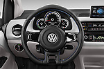 Car pictures of steering wheel view of a 2014 Volkswagen up! e-up! 5 Door Hatchback 2WD Steering Wheel