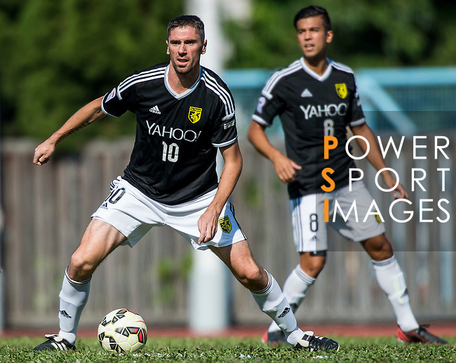 Dario Damjanovic of Sun Pegasus FC in action during the HKFA Premier League between Wofoo Tai Po vs Sun Pegasus at the Tai Po Sports Ground on 22 November 2014 in Hong Kong, China. Photo by Aitor Alcalde / Power Sport Images