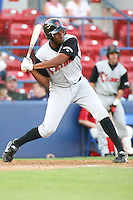 July 20 2008:  Damon Wright of the Salem-Keizer Volcanoes, Short Season Class-A affiliate of the San Francisco Giants, during a game at Home of the Avista Stadium in Spokane, WA.  Photo by:  Matthew Sauk/Four Seam Images