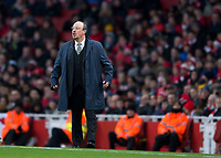 Rafa Benitez manager of Newcastle United during the Premier League match between Arsenal and Newcastle United at the Emirates Stadium, London, England on 16 December 2017. Photo by Vince  Mignott / PRiME Media Images.