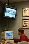 Jack Milrod seen at a Design Focus Group meeting at Newsday on October 8, 2003. Photo by Jim Peppler