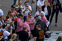 Verizon IndyCar Series<br /> Indianapolis 500 Race<br /> Indianapolis Motor Speedway, Indianapolis, IN USA<br /> Sunday 28 May 2017<br /> Johnny Rutherford and Tony Stewart talk with A. J. Foyt.<br /> World Copyright: F. Peirce Williams<br /> LAT Images