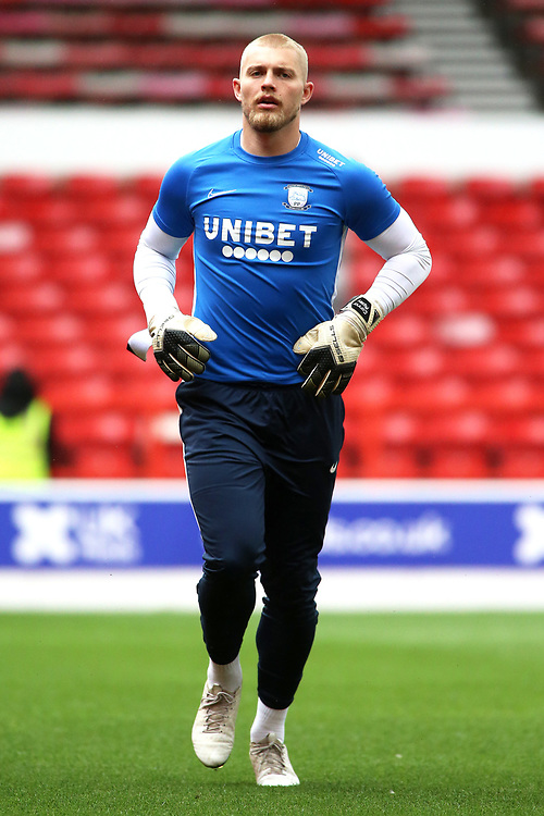 Preston North End's Connor Ripley during the pre-match warm-up <br /> <br /> Photographer David Shipman/CameraSport<br /> <br /> The EFL Sky Bet Championship - Nottingham Forest v Preston North End - Saturday 31st August 2019 - The City Ground - Nottingham<br /> <br /> World Copyright © 2019 CameraSport. All rights reserved. 43 Linden Ave. Countesthorpe. Leicester. England. LE8 5PG - Tel: +44 (0) 116 277 4147 - admin@camerasport.com - www.camerasport.com