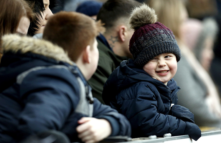 Burnley fans enjoy the second half action<br /> <br /> Photographer Rich Linley/CameraSport<br /> <br /> Emirates FA Cup Third Round - Burnley v Barnsley - Saturday 5th January 2019 - Turf Moor - Burnley<br />  <br /> World Copyright © 2019 CameraSport. All rights reserved. 43 Linden Ave. Countesthorpe. Leicester. England. LE8 5PG - Tel: +44 (0) 116 277 4147 - admin@camerasport.com - www.camerasport.com