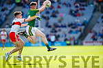 Jack Griffin Kerry in action against Sean McKeever Derry in the All-Ireland Minor Footballl Final in Croke Park on Sunday.