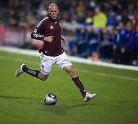 21 November 2010: Colorado Rapids forward Conor Casey #9 in action during the 2010 MLS CUP between the Colorado Rapids and FC Dallas at BMO Field in Toronto, Ontario Canada..The Colorado Rapids won 2-1 in extra time....