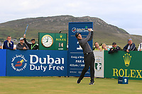Ashley Chasters (ENG) on the 1st tee during Round 1 of the Dubai Duty Free Irish Open at Ballyliffin Golf Club, Donegal on Thursday 5th July 2018.<br /> Picture:  Thos Caffrey / Golffile