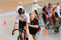 Patrick Clancy of Waikato BOP at the Age Group Track National Championships, Avantidrome, Home of Cycling, Cambridge, New Zealand, Friday, March 17, 2017. Mandatory Credit: © Dianne Manson/CyclingNZ  **NO ARCHIVING**
