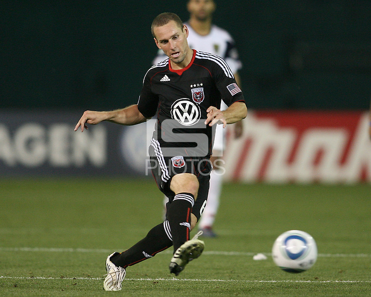 Kurt Morsink #6 of D.C. United makes a pass during an Open Cup match against Real Salt Lake at RFK Stadium, on June 2 2010 in Washington DC. DC United won 2-1.