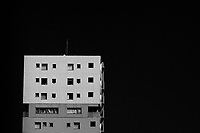 Apartment building abstract. Sagami Ono, Kanagawa, Japan. Sunday July 9th 2017