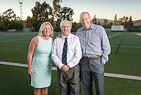 The Occidental community celebrates its student-athletes with the induction of two athletes and its first team into the Occidental Athletics Hall of Fame during Family Weekend & Homecoming on Friday, Oct. 21, 2016 in Jack Kemp Stadium. The 2016 inductees include pitching great Don Hagen '64, Olympic synchronized swimmer Jo Ann (Brobst) Hirsch '58 and the 1957 Men's Track and Field team. This year's class brings the total of Hall of Famers to 31 individuals and one team.<br /> (Photo by Marc Campos, Occidental College Photographer)
