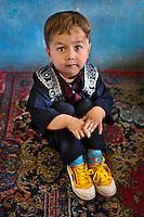 Kabul, Afghanistan 2007. Boy in school, Kabul, 2007