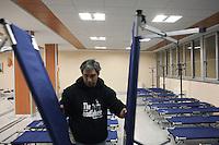 Milano: un centro messo a disposizione dal comune di Milano per ospitare i senza tetto durante i giorni di grande freddo.