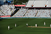 25th March 2018, Auckland, New Zealand;  Tea LED signage and general view. New Zealand versus England. 1st day-night test match. Eden Park, Auckland, New Zealand. Day 4