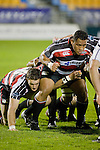 Kristian Ormsby * Poali Taula prepare to pack down in a scrum during the Air New Zealand Cup rugby game between Counties Manukau Steelers & Hawkes Bay, played at Mt Smart Stadium on the 23rd of August 2007. Hawkes Bay won 38 - 14.