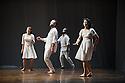 London, UK. 10.04.2013. Fabulous Beast Dance Theatre presents PETRUSHKA at Sadler's Wells. Picture shows: l to r - Anna Kaszuba, Keir Patrick, Emmanuel Obeya and Rachel Poirier. Photograph © Jane Hobson.
