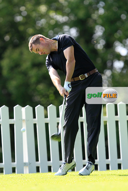 Stephen Healy (Carton House) on the 8th tee during round 2 of The Mullingar Electrical Scratch Trophy in Mullingar Golf Club on Monday 4th August 2014.<br /> Picture:  Thos Caffrey / www.golffile.ie