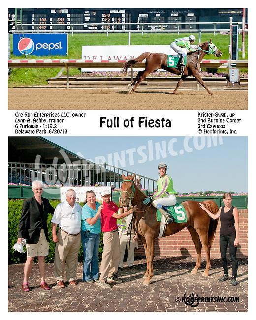 Full of Fiesta winning at Delaware Park on 6/20/13