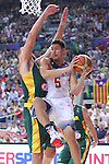 11.09.2014 Barcelona. FIBA Basketball World Cup. Semi-Finals. Picture show K. Thompson in action during game Usa v Lithuania at Palau St. Jordi