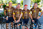 David Baily, Barry O'Donovan, Michael O'Shea and Kevin Fennessy taking part in the Tour de Munster charity cycle in aid of Down Syndrome Ireland which has stopped overnight on Friday in the Rose Hotel Tralee.