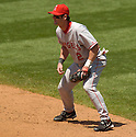 Adam Kennedy of the Los Angeles Angels in action against the Cleveland Indians. ....Angels won 2-1.....David Durochik / SportPics..