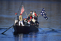 George Washington crossing the Delaware River, Christmas Day reenactment, Delaware River, Trenton, New Jersey