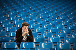 © Joel Goodman - 07973 332324 . 19/09/2015 . Manchester , UK . Fans at the Etihad Stadium after watching Manchester City vs West Ham in the Premiere League . Photo credit : Joel Goodman