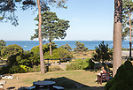 Sea view from garden of Knoll House Hotel, Studland, Swanage, Dorset, England, UK