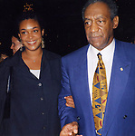 Bill Cosby with daughter at LeCirque Restaurant on September 14, 1989 in New York City.
