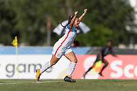Bradenton, FL - Sunday, June 10, 2018: Sunshine Fontes, goal celebration prior to a U-17 Women's Championship match between the United States and Haiti at IMG Academy.  USA defeated Haiti 3-2 to advance to the finals.
