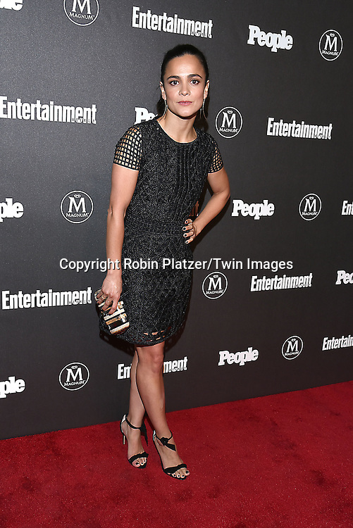 Alice Braga attends the Entertainment Weekly &amp; PEOPLE Magazine New York Upfronts Celebration on May 16, 2016 at Cedar Lake in New York, New York, USA.<br /> <br /> photo by Robin Platzer/Twin Images<br />  <br /> phone number 212-935-0770