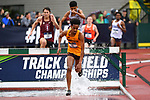 EUGENE, OR - JUNE 8: Obsa Ali of the Minnesota Gophers races to a victory in the 3000 meter steeplechase during the Division I Men's Outdoor Track & Field Championship held at Hayward Field on June 8, 2018 in Eugene, Oregon. (Photo by Jamie Schwaberow/NCAA Photos via Getty Images)