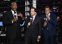 "LOS ANGELES - SEPTEMBER 28:  Lennox Lewis, Kenny Albert and Joe Goossen at the Fox Sports PBC ""Fight Night"" - Errol Spence Jr. vs Shawn Porter on September 28, 2019 in Los Angeles, California. (Photo by Frank Micelotta/Fox Sports/PictureGroup)"