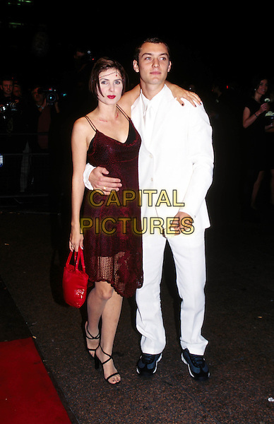 SADIE FROST & JUDE LAW..Ref: 6679/1610g..white trouser suit, trainers, flapper, twenties dress, period costume..www.capitalpictures.com..sales@capitalpictures.com..