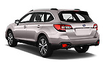 Car pictures of rear three quarter view of 2019 Subaru Outback Premium 5 Door Wagon Angular Rear