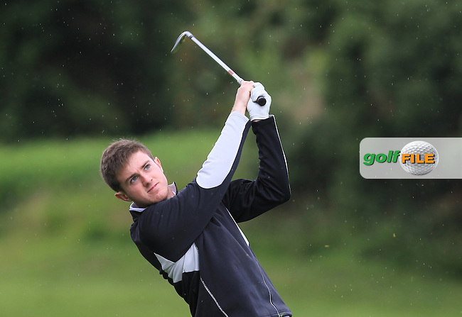 Jack Hearn (Tramore) on the 8th fairway during Round 3 of the 2016 Connacht U18 Boys Open, played at Galway Golf Club, Galway, Galway, Ireland. 07/07/2016. <br /> Picture: Thos Caffrey | Golffile<br /> <br /> All photos usage must carry mandatory copyright credit   (&copy; Golffile | Thos Caffrey)