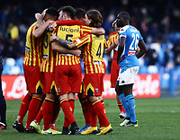 9th February 2020; Stadio San Paolo, Naples, Campania, Italy; Serie A Football, Napoli versus Lecce; Kalidou Koulibaly of Napoli  looks dejected as Lecce score for 3-1 in the 82nd minute from Mancuso