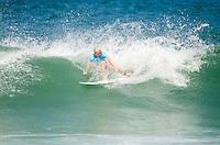 RIO DE JANEIRO, RJ, 16.05.2015 - SURF-RJ - A havaiana Tatiana Weston-Webbn durante etapa Oi Rio Pro, etapa brasileira do circuito mundial da Wolrd Surf League (WSL), na praia da Barra da Tijuca, na zona oeste da cidade do Rio De Janeiro neste sábado (16). (Foto: João Mattos / Brazil Photo Press)
