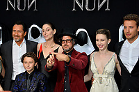 "LOS ANGELES, CA. September 04, 2018: Lili Bordan, Demian Bichir, August Maturo, Bonnie Aarons, Corin Hardy, Taissa Farmiga & Jonas Bloquet at the world premiere of ""The Nun"" at the TCL Chinese Theatre, Hollywood."