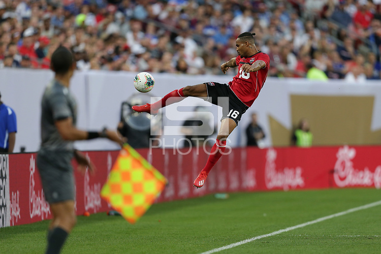 CLEVELAND, OHIO - JUNE 22: Alvin Jones #16 during a 2019 CONCACAF Gold Cup group D match between the United States and Trinidad & Tobago at FirstEnergy Stadium on June 22, 2019 in Cleveland, Ohio.
