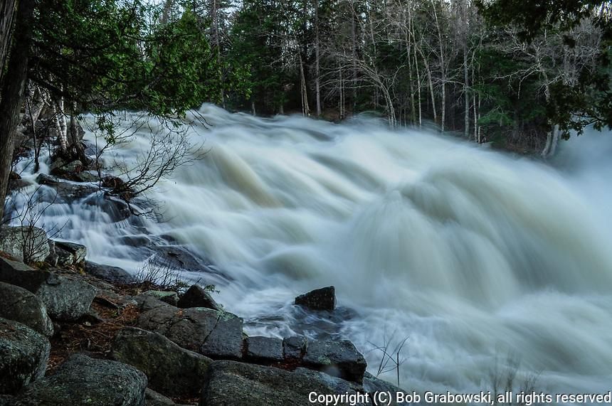 Buttermilk Falls, Raquette River, Adirondack Forest Preserve, New York