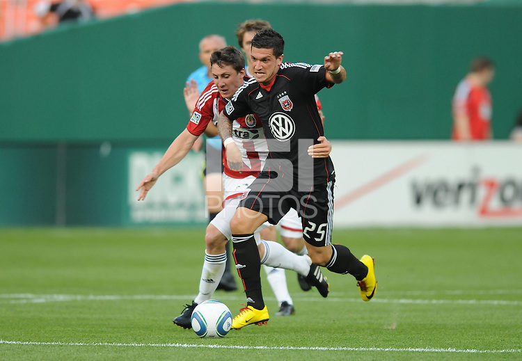 DC United forward Santino Quaranta (25)   DC United defeated Chivas USA 3-2 at RFK Stadium, Saturday  May 29, 2010.