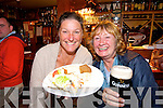 CHEERS: Helen O'Brien and Barbie Ordish, Dingle in Ashe's bar, Dingle enjoying the Tasty Trail at the Dingle food fair on Saturday.