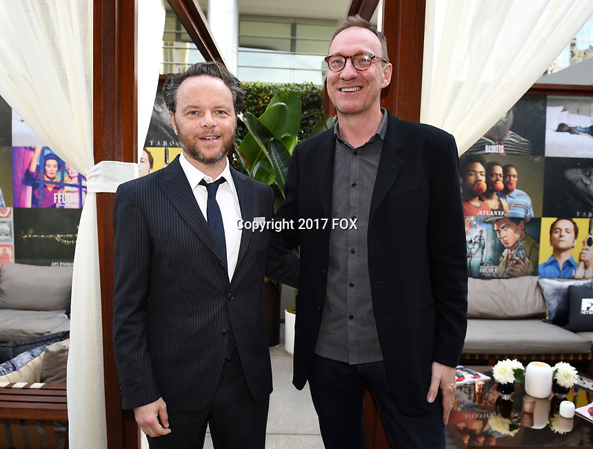 LOS ANGELES, CA - SEPTEMBER 16: (L-R) Noah Hawley and David Thewlis attend the FX Networks and Vanity Fair 2017 Primetime Emmy Nominee Celebration at Craft LA on September 16, 2017 in Los Angeles, California. (Photo by Frank Micelotta/FX/PictureGroup)