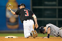 Texas Tech Red Raider 2B Garrett Totten against Rice on Saturday March 6th, 2100 at the Astros College Classic in Houston's Minute Maid Park.  (Photo by Andrew Woolley / Four Seam Images)