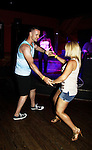 John Driscoll dances with friend Courtney at 15th Southwest Florida Soapfest 2014 Charity Weekend with a Bartending/Karaoke get together on May 26, 2104 at Porky's, Marco Island, Florida. (Photo by Sue Coflin/Max Photos)