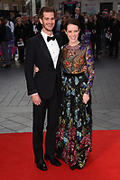 Andrew Garfield and Claire Foy<br /> arriving for the London Film Festival 2017 screening of &quot;Breathe&quot; at the Odeon Leicester Square, London<br /> <br /> <br /> &copy;Ash Knotek  D3318  04/10/2017